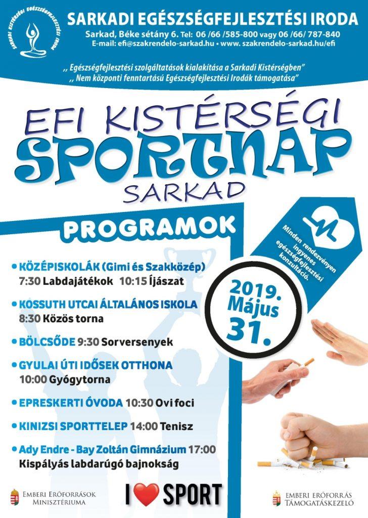 EFI Kistérségi Sportnap | 2019. Május 31.