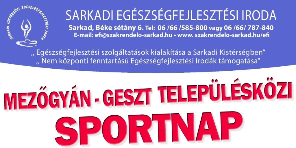 Mezőgyán – Geszt Településközi Sportnap | 2020. Szeptember 18.